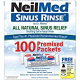 NeilMed Sinus Rinse Kit de enjuague nasal salino, 120 unidades