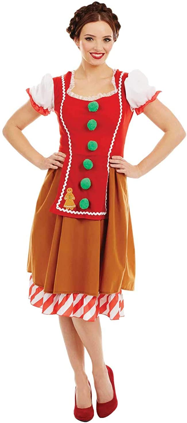 fun shack Womens Gingerbreadman Costume D Clearance SALE Limited time Party Adults [Alternative dealer] Christmas