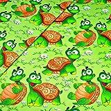 Schildkröte 100% Baumwolle Baumwollstoff Kinder