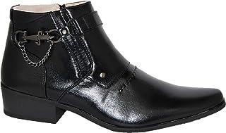 Krazy Shoe Artists Mayestic Men's 2 inch Black Cuban Heel Boot