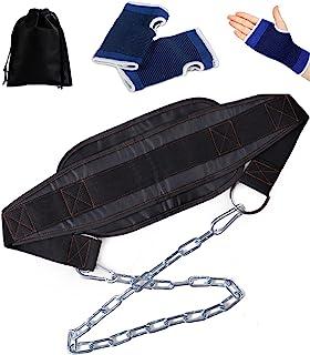 Zakya ディッピングベルト ディップスベルト ディプスベルト トレーニングベルト チンニングベルト 懸垂筋トレ 自重トレーニング 長さ調節可能 収納袋 グローブ付属