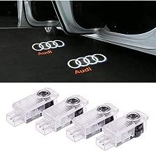 Car Door LED Logo Lights Projector Ghost Lights Laser Projector Lights Shadow Welcome Lamp Easy Installation for Audi A1 A3 A4 A5 A6 A7 A8 Q3 Q7 R8 TT Accessories 4 Pack
