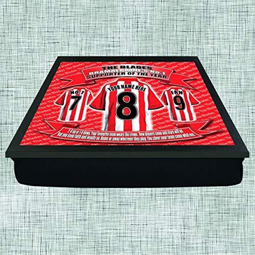 Sheffield United Football Shirt Personalised Lap Tray Gift