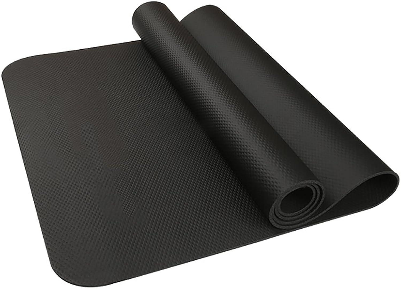 FANFF Yoga Matten Yogamatte 5 MM Multifunktionale NBR rutschfeste Laufunterlage Tanzunterlage (schwarz 190  85 cm)