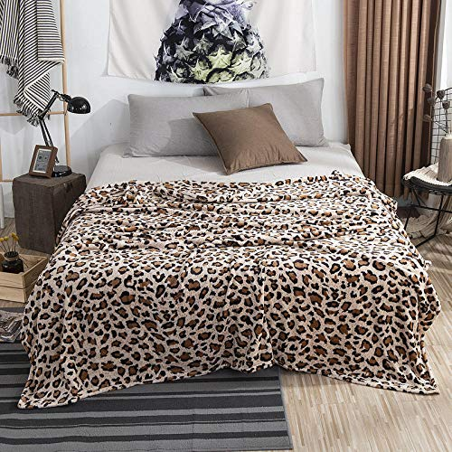 ASD Einfarbig Flanelldecke Nickerchen Decke Korallensamt Uni Decke kleines Handtuch Decke-Leopardenmuster_150 * 200m Decke