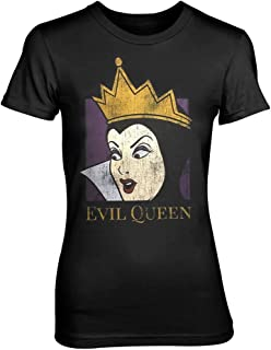 Disney T Shirt Snow Blanco Evil Queen Nuevo Oficial De Las Mujeres Skinny Fit