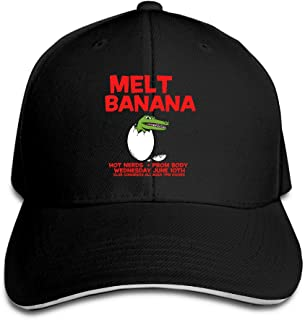 Melt-Banana Scratch Or Stitch Album Logo Adjustable Unisex Hats Visor Caps Sanwich Bill Caps