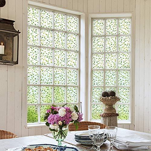 WGSJA glasfolie, mat, glasfolie voor ramen, bescherming tegen inkijk, sticker, glasfolie, decoratie voor thuis 90X225CM  Oro rosa + oro rosa