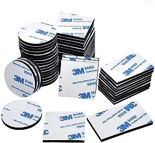 90 STKS Zelfklevende Foam Pads, Dubbelzijdige Sticky Pads, Zwarte Rechthoek, Vierkanten en Ronde Dubbele Zelfklevende Foam...
