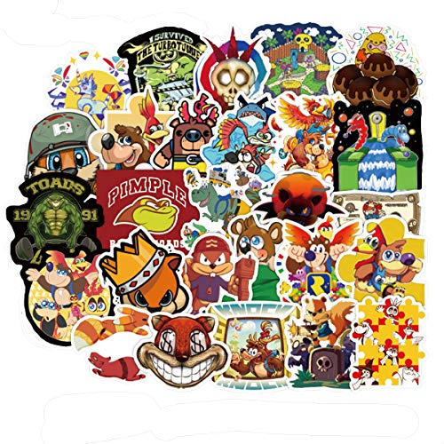 YOUTHSTORE Banjo Kazooie: Nuts and Bolts Game Stickers for Laptop Water Bottle Luggage Snowboard Bicycle Skateboard Decal for Kids Teens Adult Waterproof Aesthetic Stickers (Banjo Kazooie)