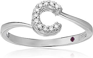 Roberto Coin Women's 001634AWLRXC Diamond Initial Ring, White, Size 7