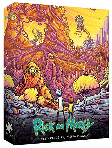 "USAOPOLY Rick & Morty ""Into The Rickverse"" 1000Piece Premium Puzzle 