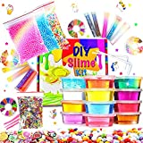 Fluffy Slime Kit de 12 Colores Crystal Slime con 10 Botellas de...