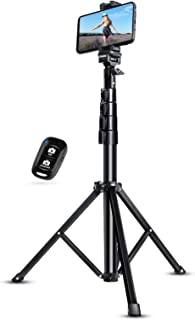 "UBeesize Selfie Stick Tripod, 51"" Extendable Tripod Stand with Bluetooth Remote for Cell Phones, Heavy Duty Aluminum, Ligh..."