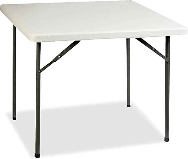 Lorell Banquet Table 36 By 36 By 29 Inch Platinum