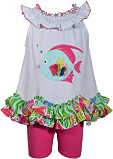Bonnie Jean Girls Fish Applique Short Set