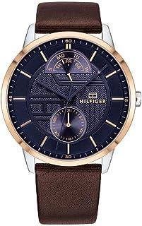 Tommy Hilfiger Reloj Multiesfera para Hombre de Cuarzo con Correa en Cuero 1791605
