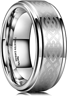 celtic knot tungsten ring