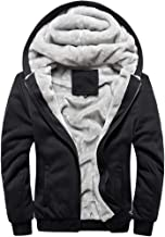 MANLUODANNI Men's Casual Hooed Hoodies Thick Wool Warm Winter Jacket Coats