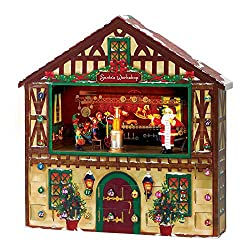 This Musical Advent Calendar is sure to bring some holiday cheer into the home! Store small surprises in each of the compartments to accompany the cheerful holiday tunes.