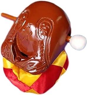 Moana Mahana(モアナマハナ) 木魚 (もくぎょ) クスノキの木魚 ふとん ・ 籐柄バイ 付き 3点セット クスノキ製(4寸12cm) 仏壇 用の 仏具 楽器 鳴り物 ポクポク ブラウン (4寸, ブラウン)