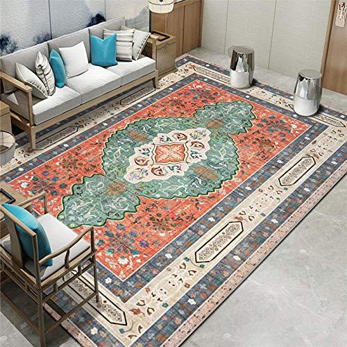 La alfombras Comoda Salon Fácil Limpio Gris Rojo Negro diseño Floral diseño Antideslizante Adornos Salon Alfombra Pasillo 60*160CM