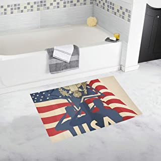 Greeting with Soldiers Great Seal of The United States Custom Non-Slip Bath Mat Rug Bath Doormat Floor Rug for Bathroom 20 X 32 Inch