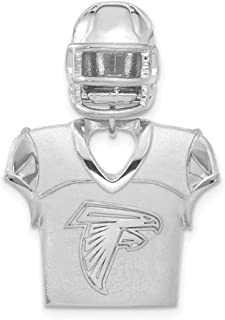 NFL Sterling Silver Atlanta Falcons Jersey and Helmet Pendant