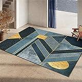 decoración habitación bebe alfombras a medida online El rectángulo de la decoración del dormitorio de la sala de estar de la alfombra verde se puede lavar a máquina sin deformación alfombra para niños