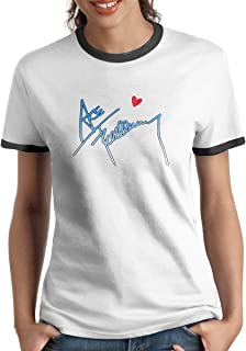 Women's Short Sleeve Classic Women's Ringer T-Shirt Print I Love ACE Frehley