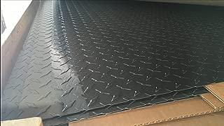 Painted Black Aluminum Diamond Plate - x 24