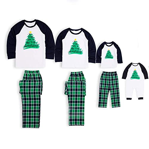 PatPat Family Matching Pajamas Holiday Christmas Tree Printed Sleepwear  with Plaid Pants Set for Adult Kids df532658c