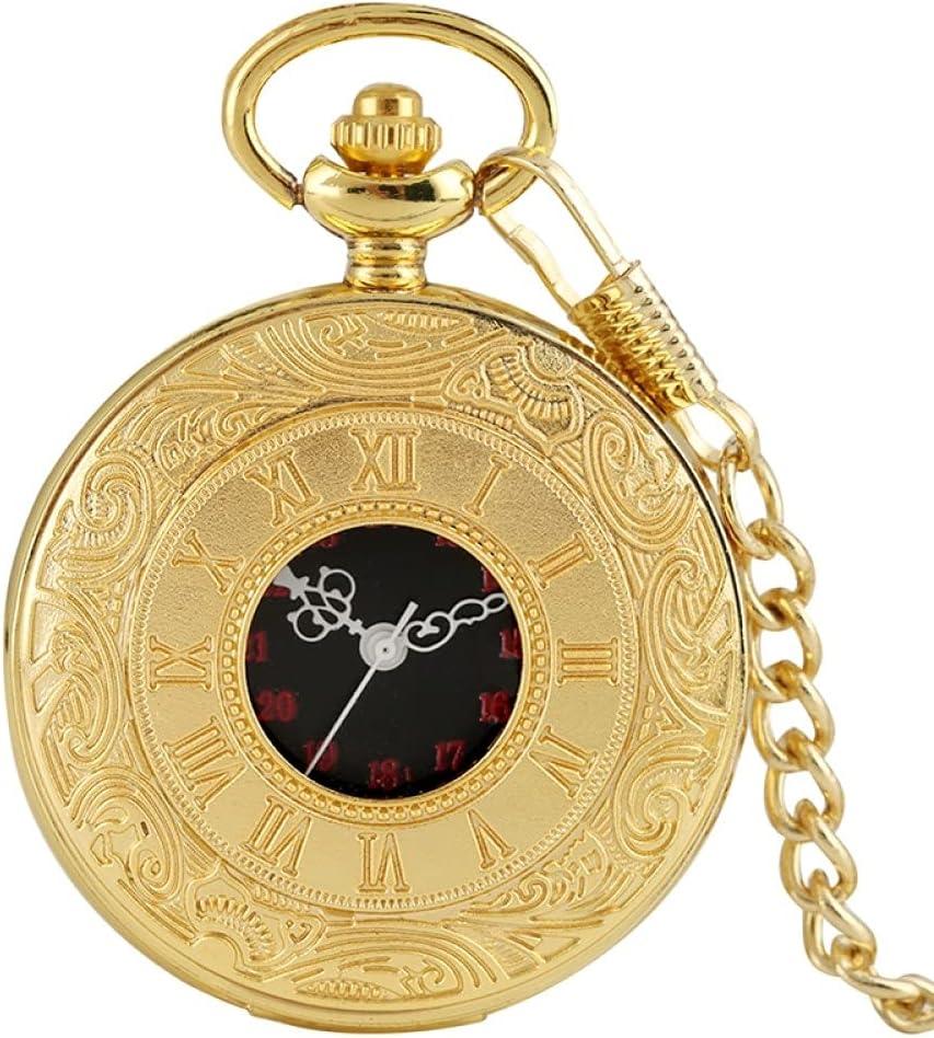 LOOMUCI Pocket Watch Antique Fashion Max 48% OFF Display Quart Numeral Roman Sales