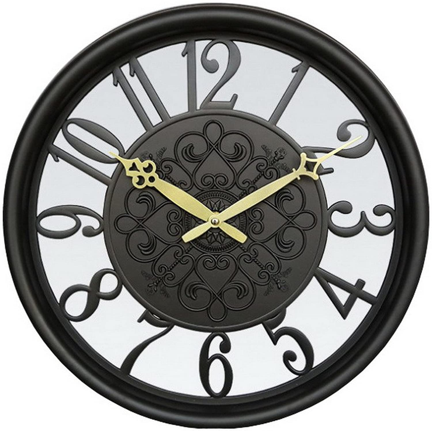 12.5 Inch Round Wall Clock Silent Non-ticking Wall Clock