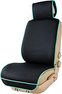 CAR PASS Waterproof Neoprene Universal Car seat Protector, Car Seat Cover,Seat Cushion for SUVS,Vans,Trucks,SEDANS,Free from Sweat,Stains,Spills,Smell(Black with Mint)