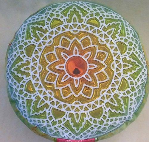 Meditationskissen Yogakissen mit abnehmbarem Bassetti Bezug Tantra Meditation Mandala Yoga