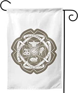 NOT Ilvermorny School of Witchcraft and Wizardry Crest Outdoor Decor Garden Flag for All Seasons and Holidays Vertical Double Sided 12.5 X 18 Inch Square