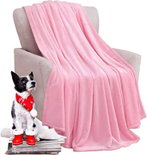 KAWAHOME Flannel Fleece Blanket Lightweight Warm Fuzzy Soft Microfiber Blankets All Season for Bed Couch Sofa King Size 108 X 90 Inches Pink
