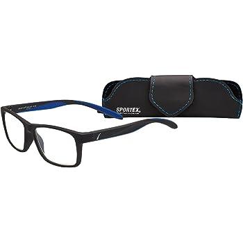 Amazon Com Select A Vision Mens Sportex Ar4163 Blue Reading Glasses Blue 29 Mm Us Shoes Sportex readers rectangular men's reading glasses plastic frame, gray, 1.50. select a vision mens sportex ar4163