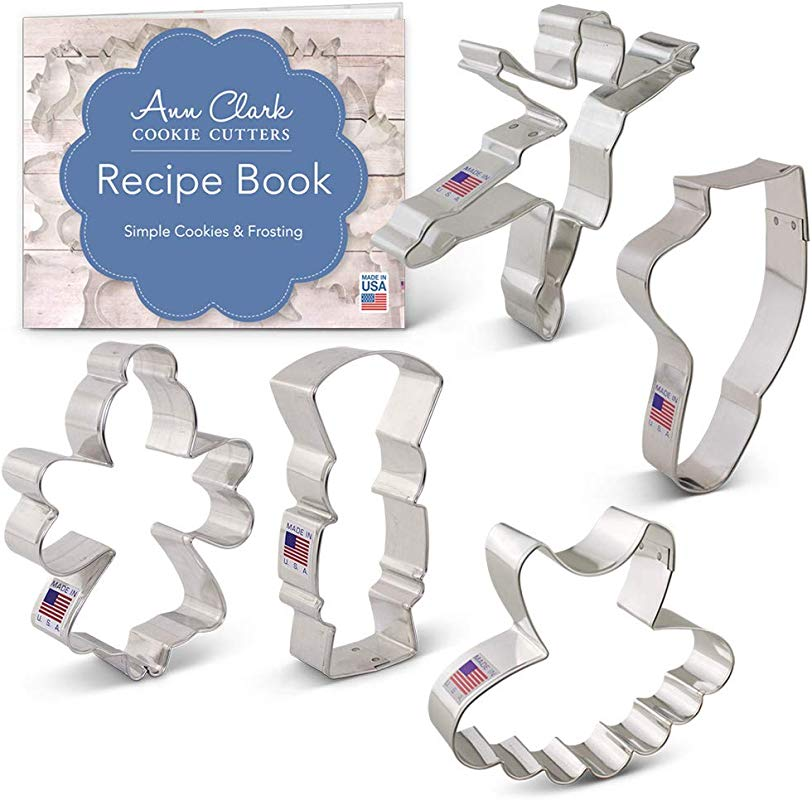 Ann Clark Cookie Cutters 5 Piece Nutcracker Ballet Cookie Cutter Set With Recipe Booklet Nutcracker Sugar Plum Fairy Tutu Ballerina And Ballet Slipper