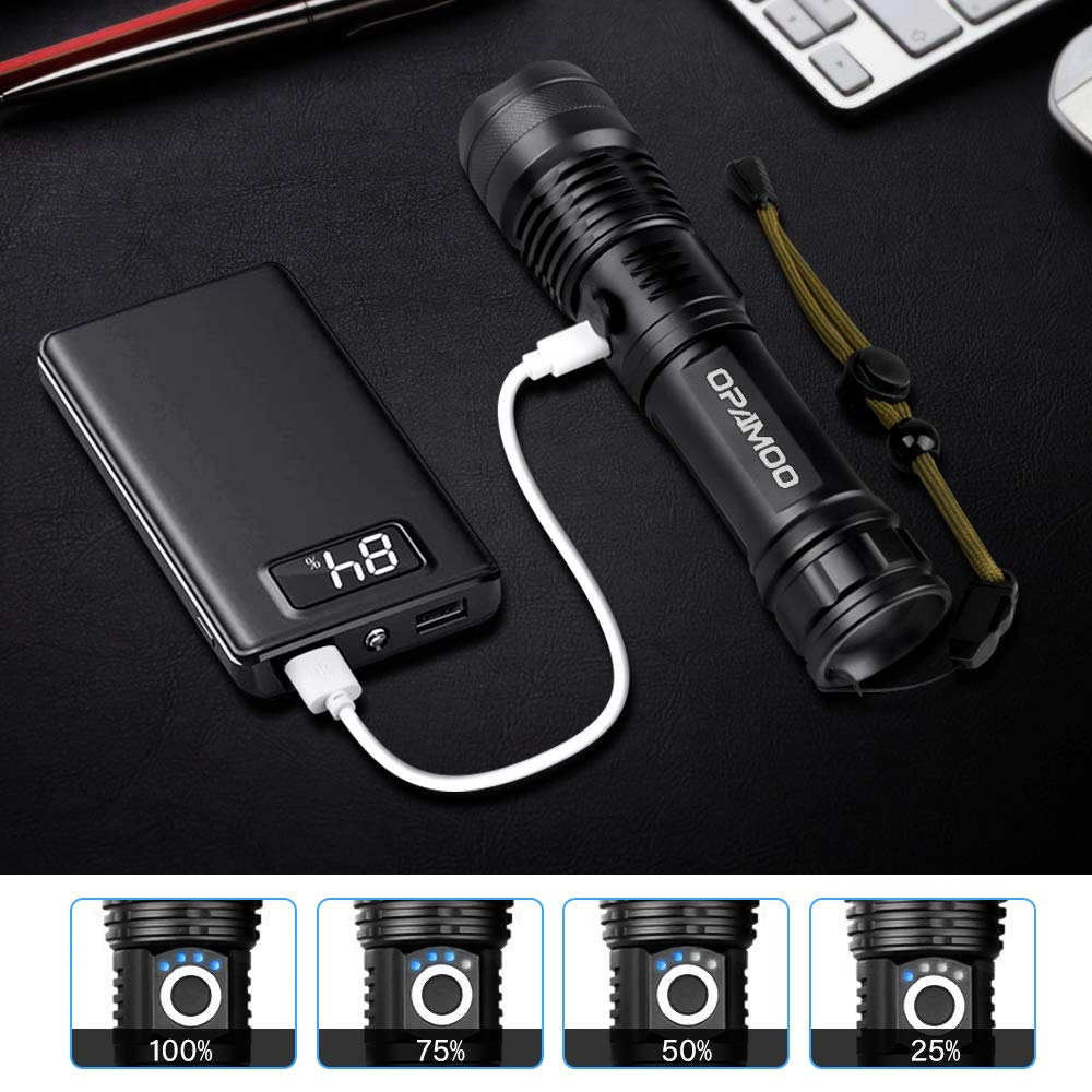 Details about  /Lots Powerful 350000LM 5 Modes LED Battery Flashlight Torch/&Battery Charger