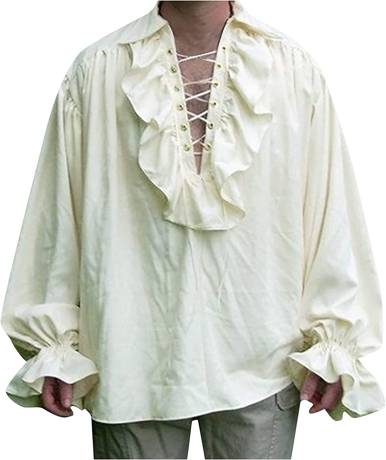 Ultra-Cheap Deals Mens Gothic Shirt Long Sleeve Costume Cosplay Tops Sale Special Price Dress Shirts