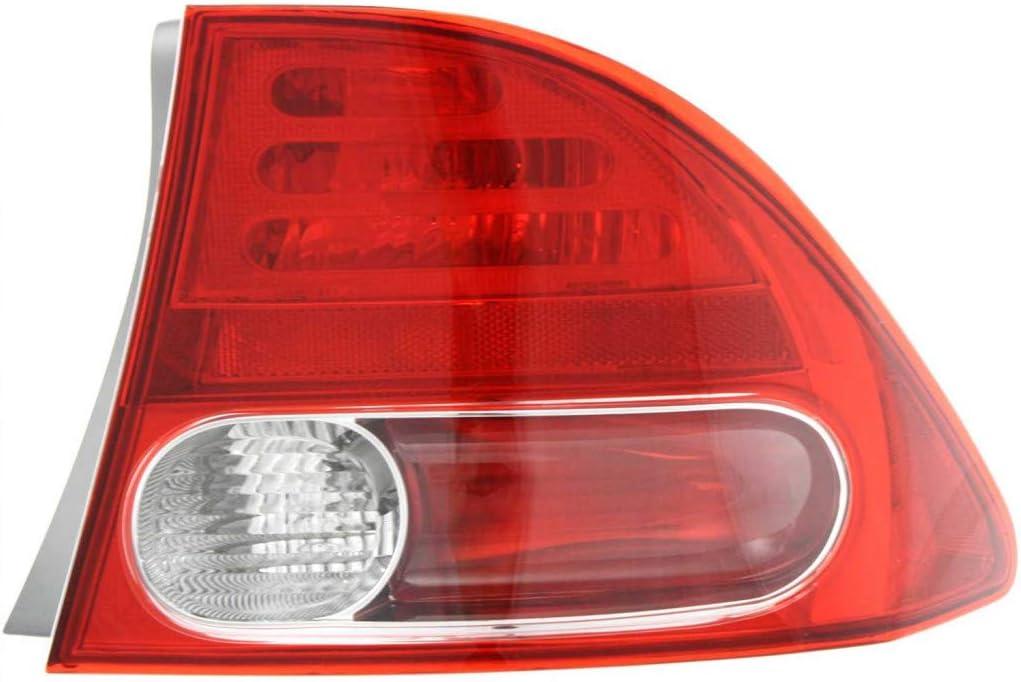 For 2006-2008 Honda Max 72% OFF Civic Rear Tail Light Passenger Ranking TOP7 Assembl Side