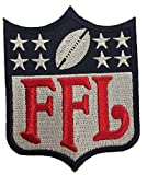 CustomPatches Fantasy Football FFL Patch Regular Logo Blue & Red (Perfect for Jersey, Award, Trophy or Draft)