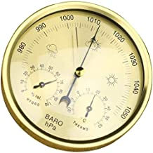 Barometer analog Thermometer hygrometer 3-in-1 indoor and outdoor thermometer, hygrometer, barometer for home balcony (Col...