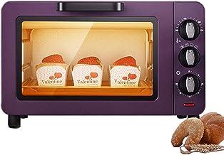 L.TSA Mini Cocina Hornos domésticos 15L Capacidad Máquina de cocción Multifuncional Horno eléctrico Temporizador de Hornear 60Min Tostadora de Pan para Pizza, púrpura