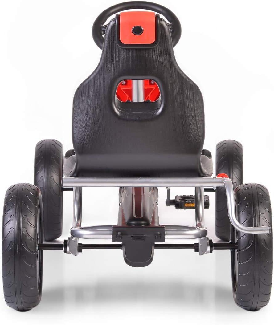 Moni Bambini Go Kart pedaliera 1504 Sedile Regolabile da 5 Anni colorazione:Rosso