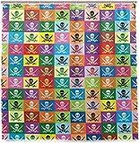 vrupi Bad Vorhang Multicolor Logo Piratenflagge Piraten Duschvorhang Wohnung Dekorieren Schlafzimmer Dekor 71x71inch Polyester wasserdichtes Gewebe einschließlich zwölf Kunststoffhaken