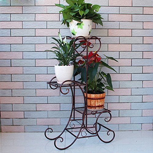 LRW Europese ijzeren bloempot balkon bloempot plank Multi Room Green Flower