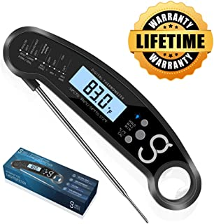 Digital Instant Meat Food Thermometer - BBQ or Grilling, Waterproof and Magnetic with Probe | Electric and Wireless, Quick, Smart Read for Cooking Red Meat, Candy, Tea, Oven Roast for Kitchen